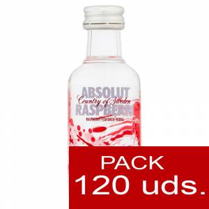 5 Vodka - Vodka Absolut Raspberry 5cl CAJA DE 120 UDS