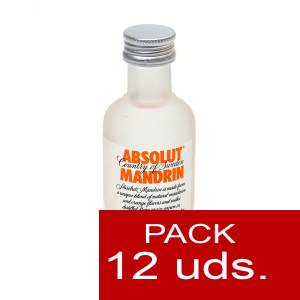 6 Vodka - Vodka Absolut Mandrin 5cl 1 PACK DE 12 UDS