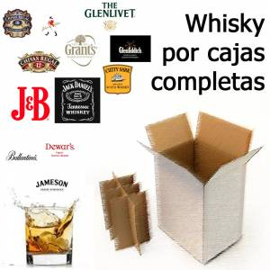 Botellitas de licor_Whisky CAJAS